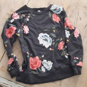 Old Navy floral sweatshirt